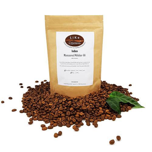 LiKe Kaffee Indien Monsooned Malabar AA ganze Bohne