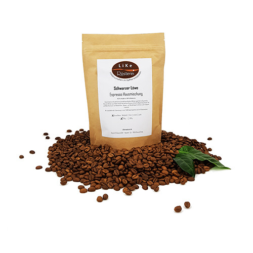 LiKe Kaffee Schwarzer Löwe Espresso ganze Bohne